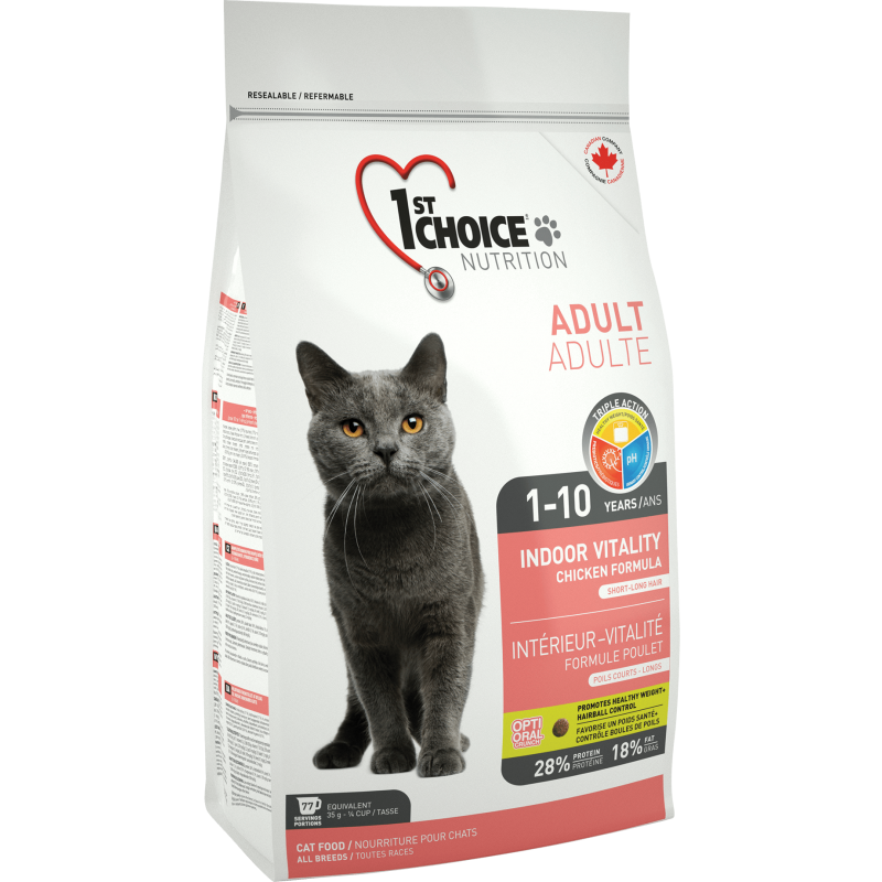 1St Choice Cat Adult Indoor Vitality 10 Kg