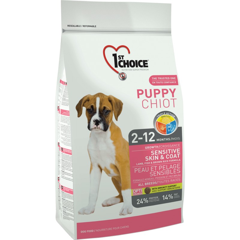 1St Choice Dog Puppy All Breeds Sensitive Skin&Coat 14 Kg
