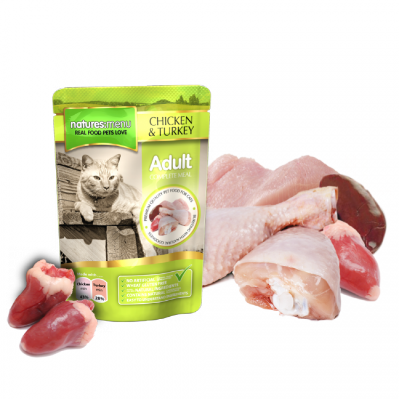NATURES MENU CAT CHICKEN&TURKEY (100 gr.)