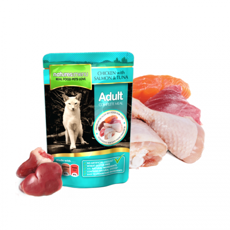 NATURES MENU CAT CHICKEN&SALMON&TUNA (100 gr.)