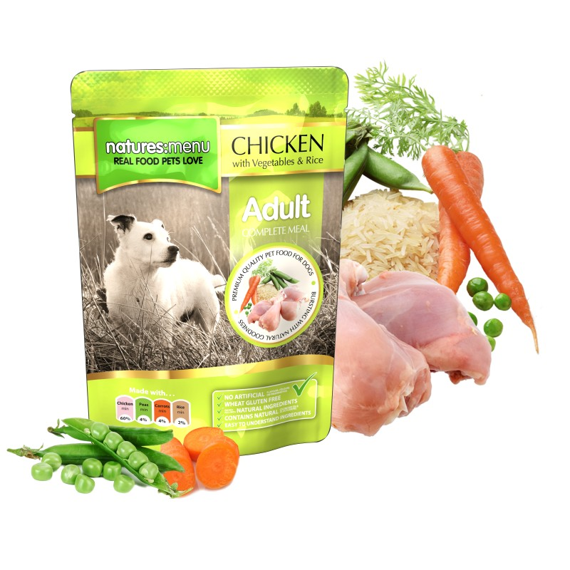 NATURES MENU DOG ADULT CHICKEN (300 gr.)