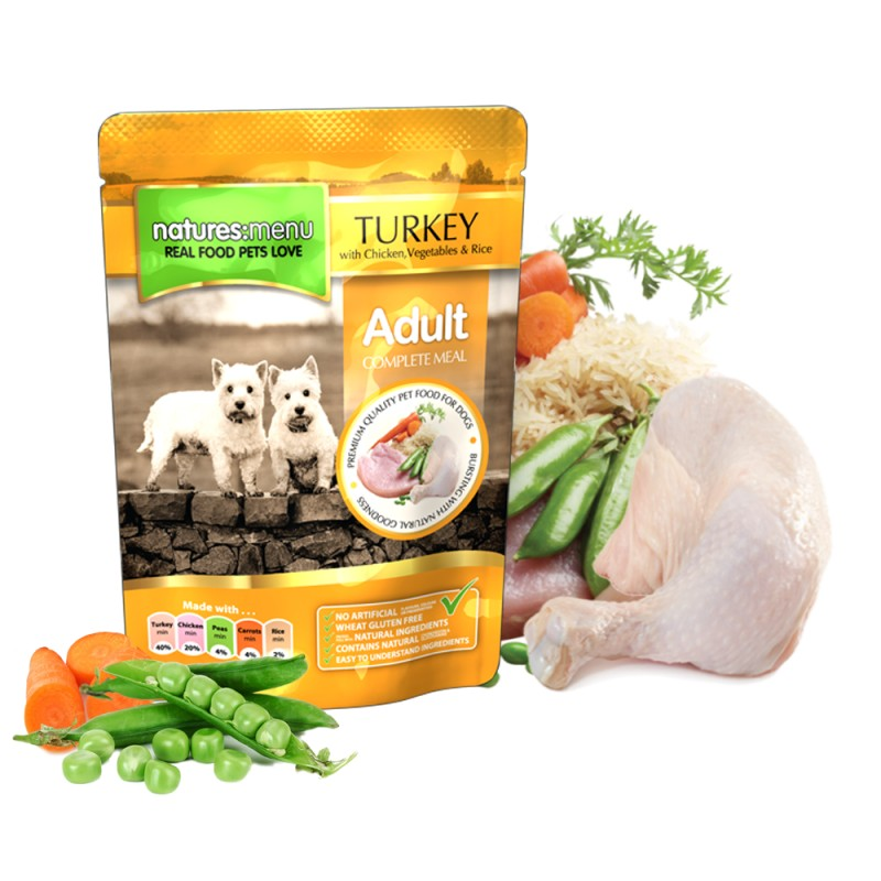 NATURES MENU DOG TURKEY&CHICKEN (300 gr.)