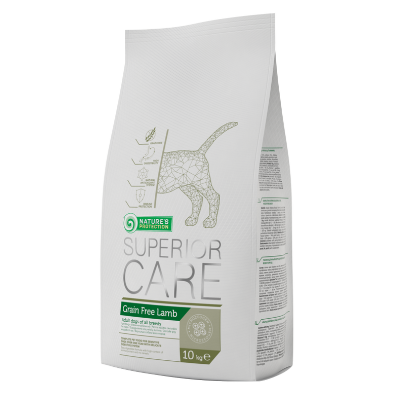 Natures Protection Dog Superior Care  Grain Free Lamb 10 Kg