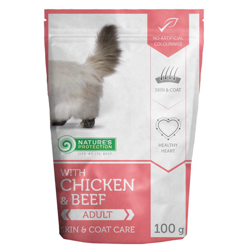 Natures Protection Cat Persian Chicken&Beef 100 G