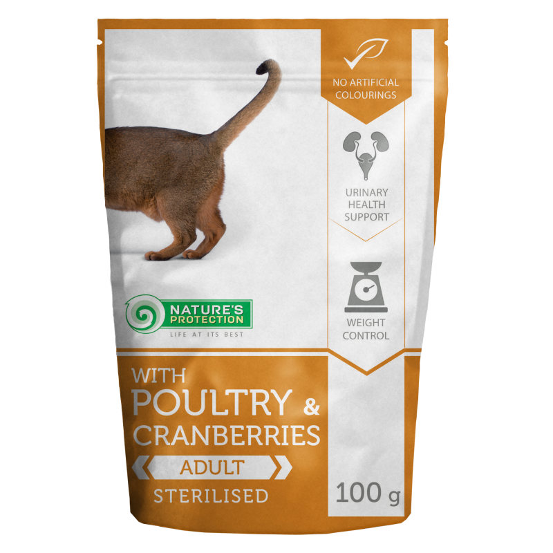 Natures Protection Cat Sterilized Poultry&Cranberries 100 G