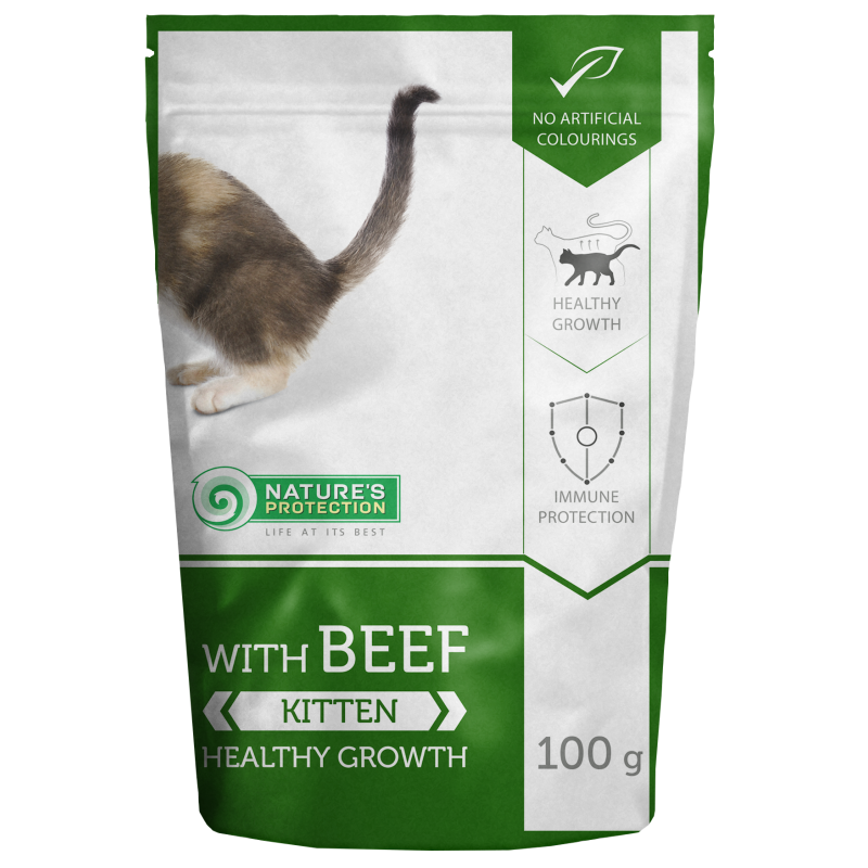 Natures Protection Kitten Beef 100 G