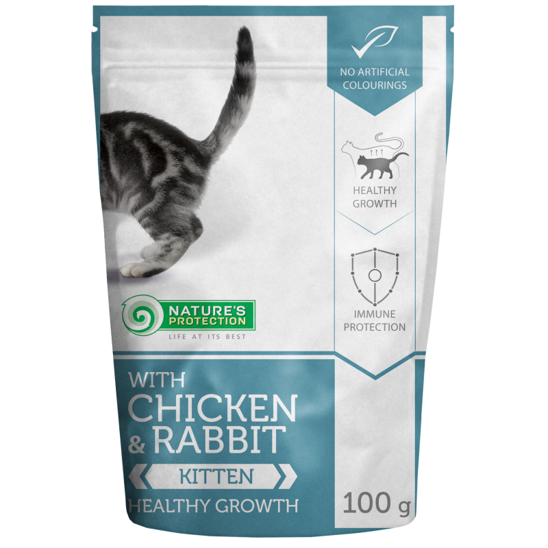 Natures Protection Kitten Chicken&Rabbit 100 G