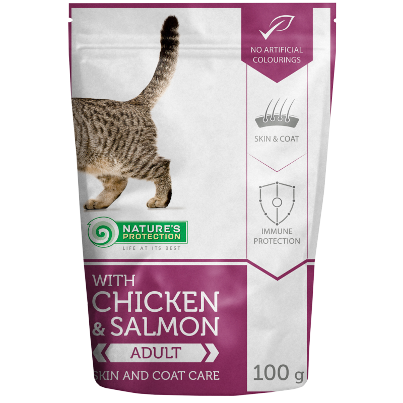 Natures Protection Skin and Coat Chicken&Salmon 100 G